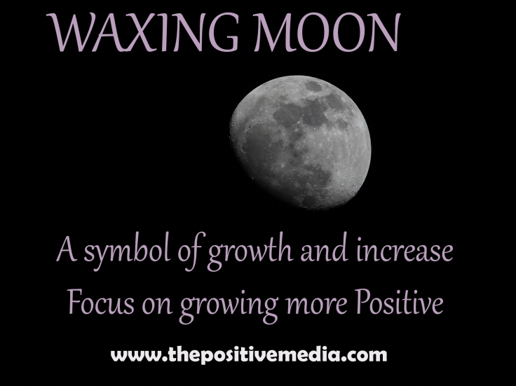 positive media waxing moon