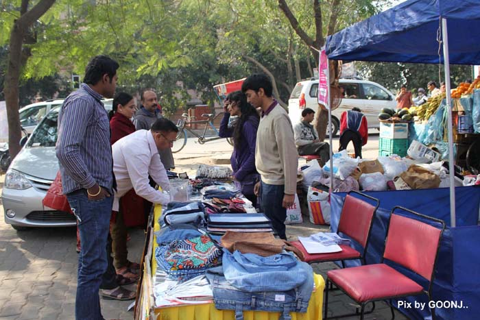 Volunteers leading Goonj's collection camps in the cities